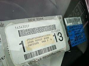 Temporary Inspection Sticker Ny