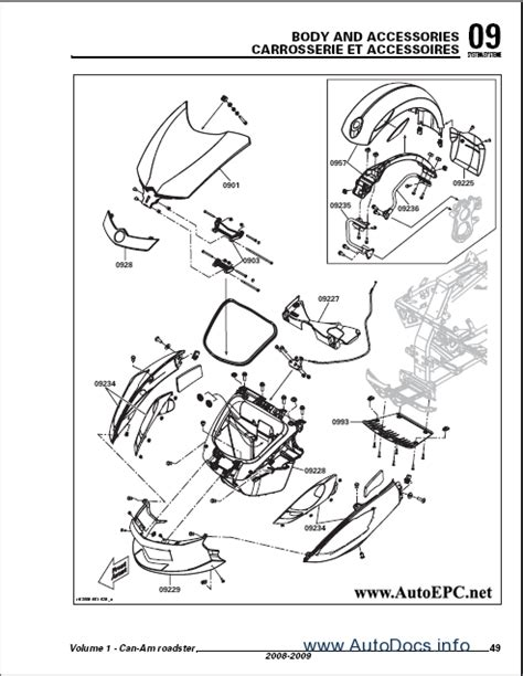 can am parts diagram bombardier can am spyder gs 2008 2009 repair manual order