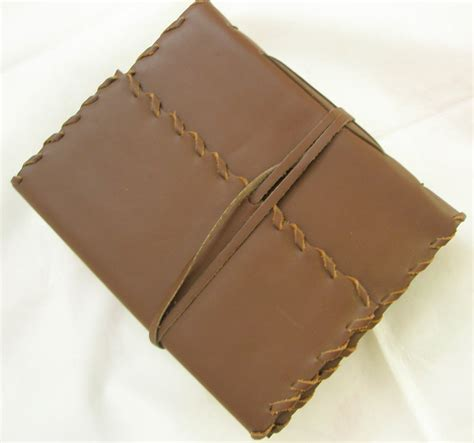 Handmade Leather Bound Journals - handcrafted leather bound personalized journal blank diary