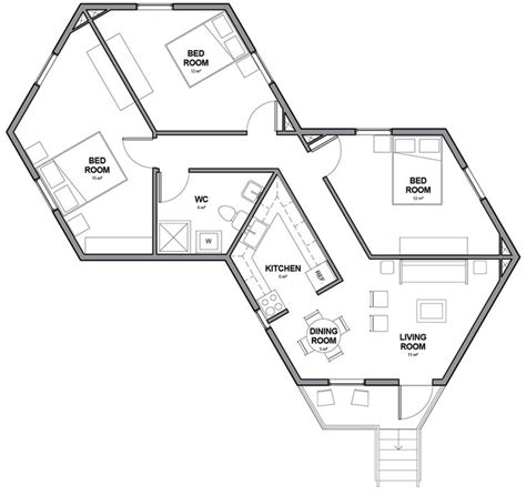 small hexagon house plans 93 best hexagonal architecture images on pinterest architecture architecture