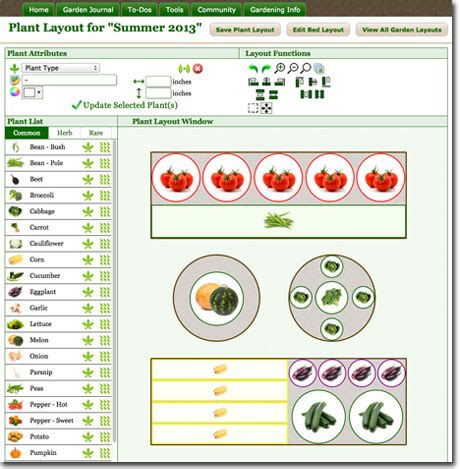 garden layout tool vegetable garden planner
