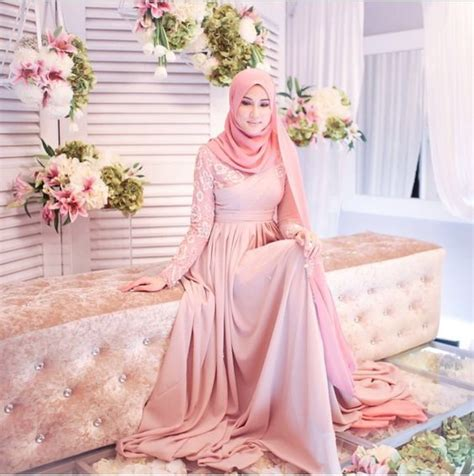 Maxi Soft Pink Maxmara Dress Muslim Elegan top engagement with for muslim
