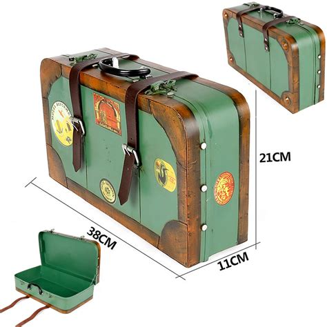 Handmade Suitcase - handmade nostalgia tin suitcases creative metal craft