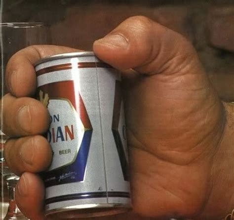 giant drink andre the giant holding a can of beer neatorama