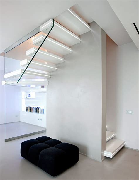 Hanging Stairs Design Corian 174 Hanging Stairs Luxo Surfaces By Officine Sandrini