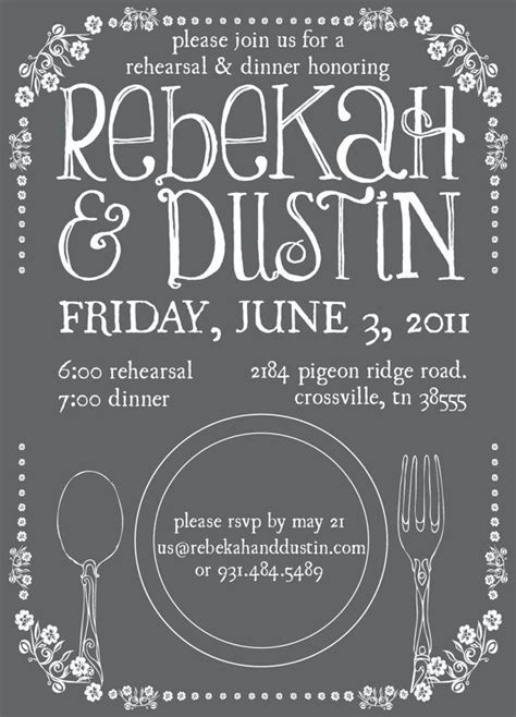 dinner invitation ideas 44 best images about rehearsal dinner ideas on