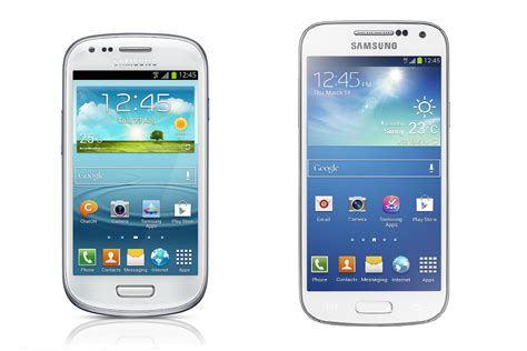 samsung galaxy s3 mini vs galaxy s4 mini review review pc advisor