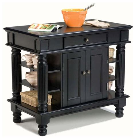 black kitchen island cart 42 in kitchen island black contemporary kitchen islands and kitchen carts by shopladder