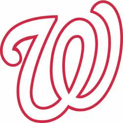 Customizable Wall Stickers washington nationals cap logo decal sticker stk mlb wan
