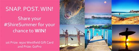 Can You Use Westfield Gift Cards At Countdown - westfield miranda win 500 westfield gift card submit photo australian competitions