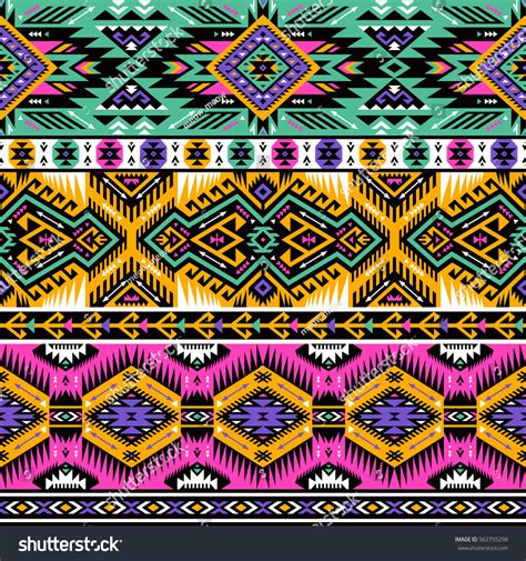 tribal colors neon colors tribal vector seamless pattern stock vector