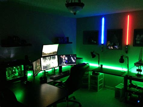 Cool Room Lighting by Cool Computer Setups And Gaming Setups