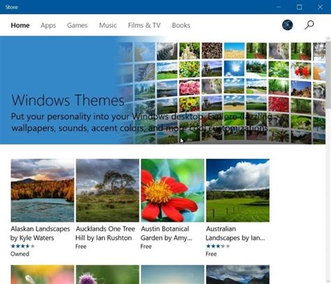 themes store free download download windows 10 themes from store for free