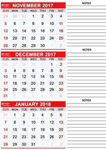 Calendar 2017 November And December Word Printable December 2017 Calendar Calendar Table Calendar