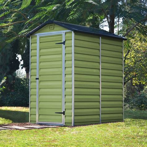 4 X 6 Plastic Shed waltons 6 x 4 green skylight plastic shed