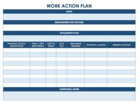 Work Plan Template by Free Plan Templates Smartsheet