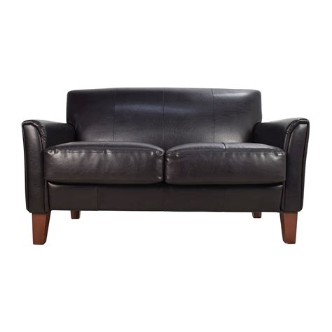 used loveseats 53 off black leather loveseat sofas