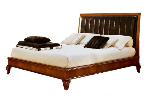 walnut bed leather headboard for classic hotels idfdesign