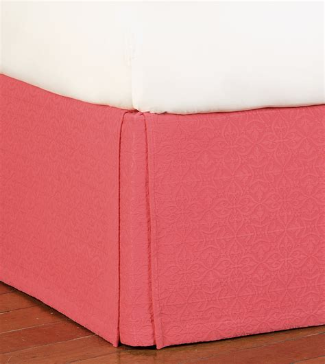 coral bed skirt belmont home decor luxury bedding mea coral bed skirt
