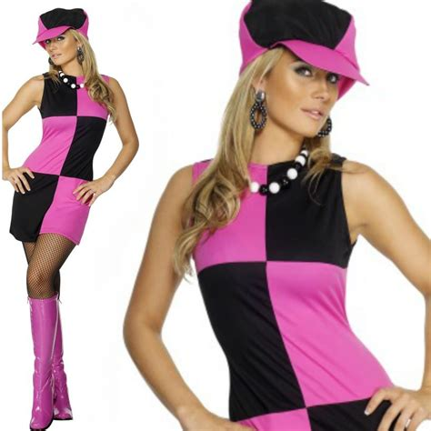 swinging in the 70s swinging 60s 70s sixties ladies womens fancy dress costume