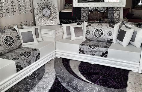 salon marocain blanc design moderne salon deco marocain