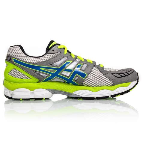 asics gel nimbus 14 running shoe asics gel nimbus 14 mens running shoes white blue