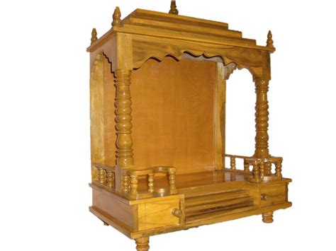 wooden pooja mandir altar open style     buy   desiclikcom usa