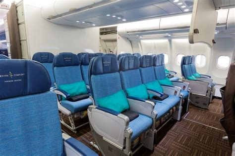 hawaiian airlines extra comfort seats a better look inside the new hawaiian airlines premium