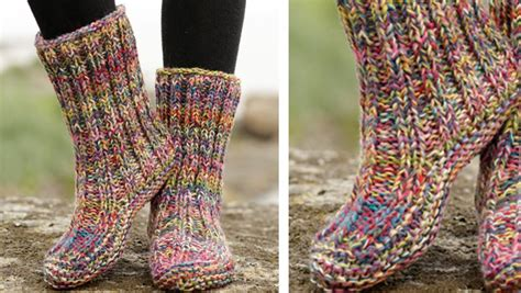 free knitting pattern house socks ribbed confetti knitted slippers free knitting pattern