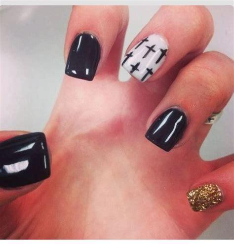 cross pattern nails nail designs with crosses black gold nail designs