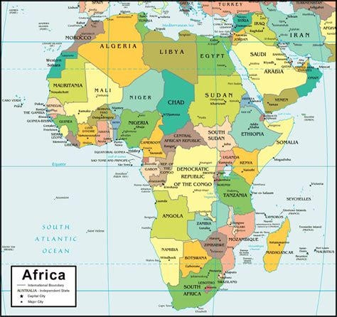 maps and africa map and satellite image