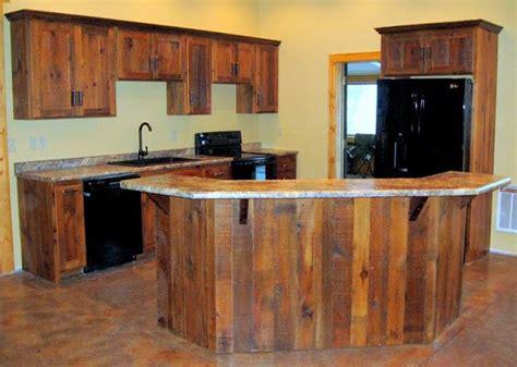 barn wood kitchen cabinets cabin ideas pinterest