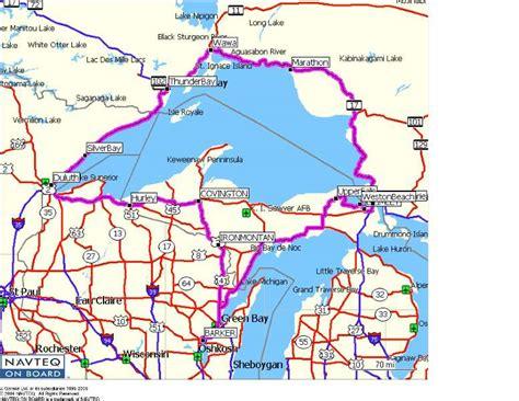 lake superior map lake superior tour