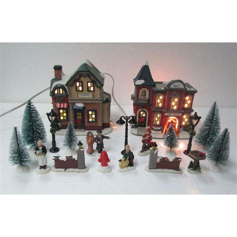christmas village sets home accents holiday 12 5 in animated musical led village with blog the house of wood