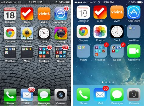 ios 7 home screen apple gazette