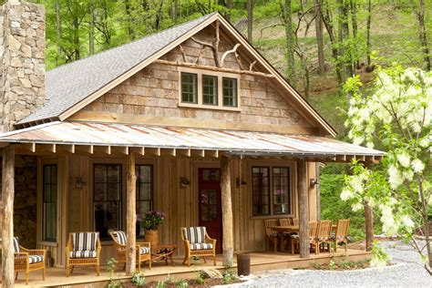 A Mountain Getaway Cottage In Asheville North Carolina Southern Living House Plans Creek