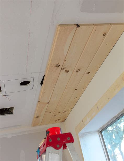 Plank Ceiling Diy by Kitchen Chronicles Diy Tongue And Groove Plank Ceiling