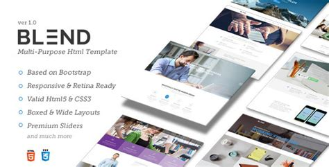 blend templates blend multi purpose responsive website template by