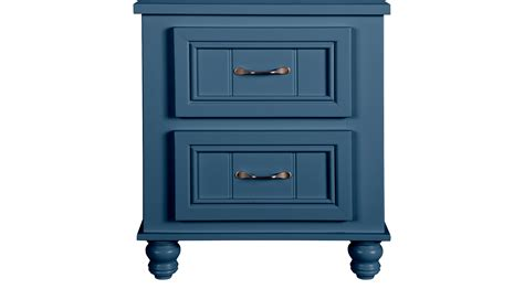 blue nightstand cottage colors blue nightstand