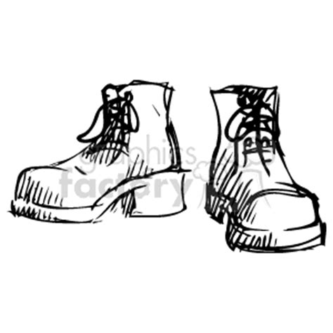 how to draw a military boat royalty free sketched drawing of boots 137006 vector clip