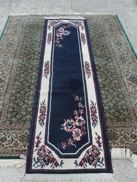 Blue And White Rugs For Sale Vintage Blue And White 80 Quot X 23 Quot Runner Rug Knotted