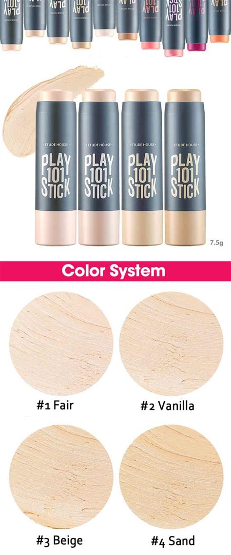 Etude Play 101 Stick Foundation No2 Vanilla etude house play 101 stick foundation 7 5g kbeauty original