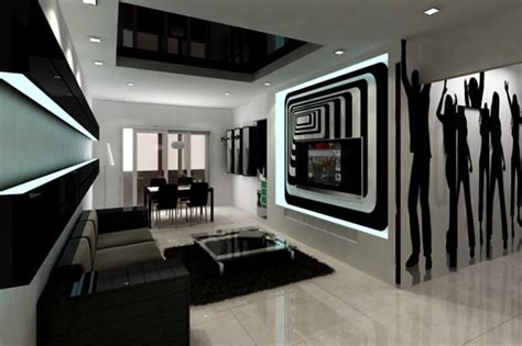20 Wonderful Black And White Contemporary Living Room Designs Black And White Living Room Decorating Ideas