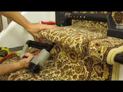 how to install carpet runner on stairs youtube