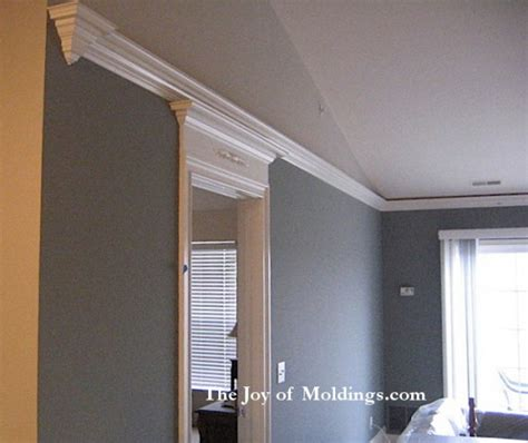 crown molding for vaulted ceiling how to make a crown molding finial return the of