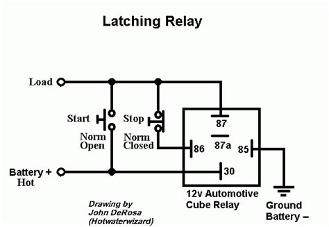 latching relay diagram image gallery latching relay operation