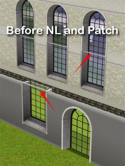 mod  sims   windows  extended walls
