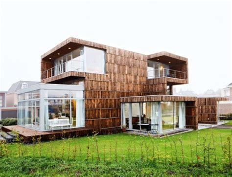 green building homes modern dutch house built from salvaged billboards and