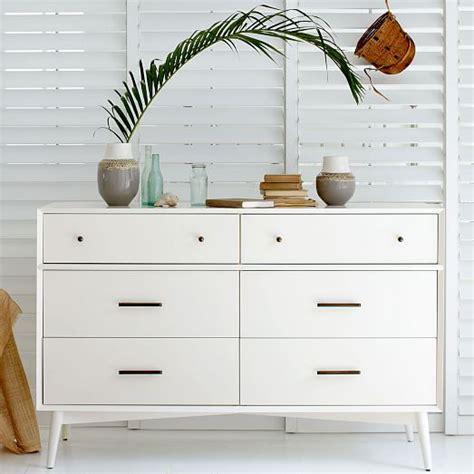 west elm modern white dresser mid century 6 drawer dresser white west elm