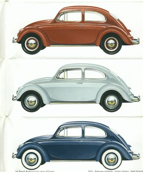Thesamba Com Vw Archives 1960 Vw Beetle Colors